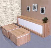 סט סלוני שולחן ומזנון VITORIO DIVANI דגם סליני