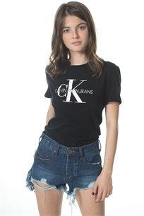 Ck נשים // טי - שרט לוגו שחורה