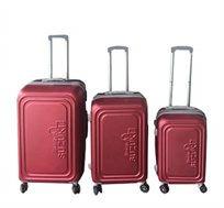 סט 3 מזוודות קשיחות 20'', 24'', 28'' Suzuki Toledo בצבע בורדו