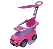 בימבה ג'יפ לתינוק הכוללת גגון להגנה מהשמש בעלת שלוש אפשרויות שימוש My First Drive