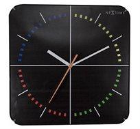 שעון קיר מרובע בעיצוב מודרני דגם ארבע עונות