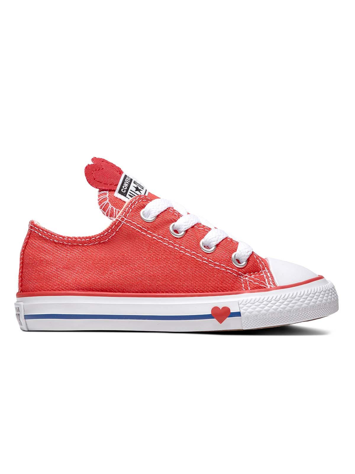Converse תינוקות // דנים לב אדום חצי