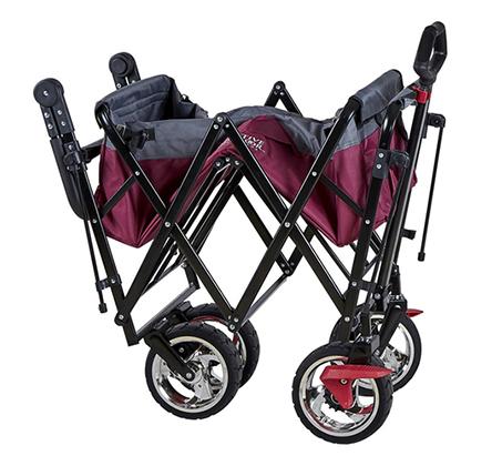 להפליא עגלה ניידת מתקפלת עם גלגלים Pull&Go לקניות הסופר, לטיולים ולילדים AP-27