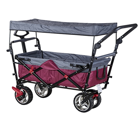 מקורי עגלה ניידת מתקפלת עם גלגלים Pull&Go לקניות הסופר, לטיולים ולילדים TF-63