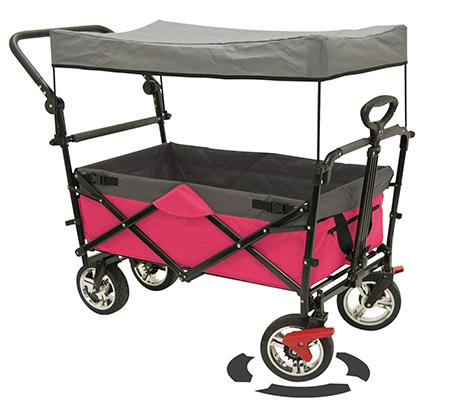 מפוארת עגלה ניידת מתקפלת עם גלגלים Pull&Go לקניות הסופר, לטיולים ולילדים KL-12
