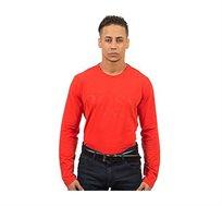 חולצת טי שירט ארוכה Hugo Boss לגברים בצבע אדום