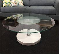 שולחן זכוכית עגול בעיצוב איטלקי דגם FENDI בצבעים לבחירה