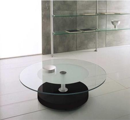 שולחן סלון בעיצוב איטלקי מיוחד בשילוב זכוכית חלבית ושקופה דגם FENDI - משלוח חינם - תמונה 2