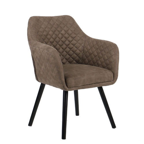 כורסא מעוצבת עם רגלי עץ מלא דגם HOUSTON