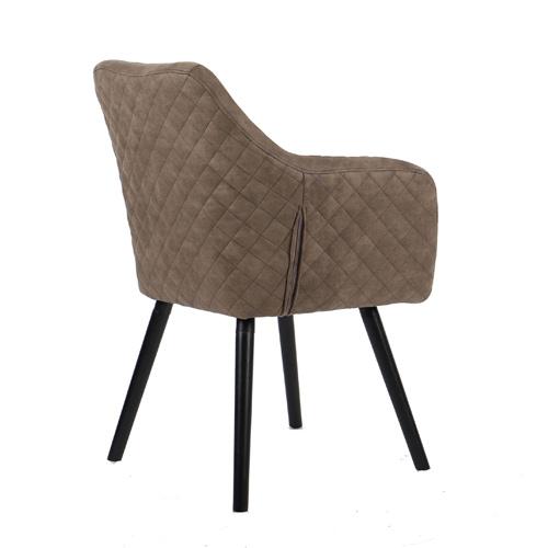 כורסא מעוצבת עם רגלי עץ מלא דגם יוסטון HOME DECOR - תמונה 3