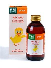 הדס לילדים סירופ ויטמין סי עם פקעות ורדים בטעם הדרים