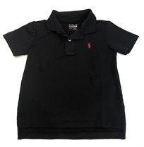 RALPH LAUREN פולו(7-2שנים) - חולצת פולו שחורה