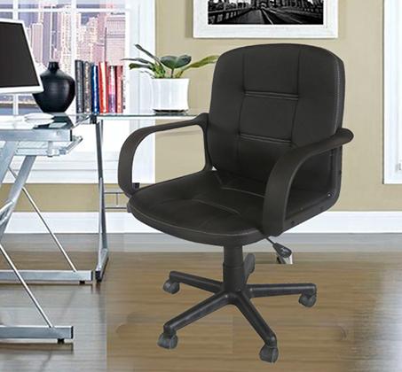 כיסא מחשב מהודר לשימוש בבית ובמשרד עשוי דמוי עור סינטטי דגם ניו אורלינס HOMAX - תמונה 3