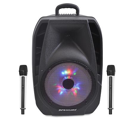 """רמקול Bluetooth מוגבר """"10 עם שני מיקרופונים אלחוטים  דגם LX-100"""