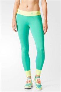 מכנסי ריצה Adidas STELLA SPORTS לאישה בצבעי ירוק/כחול/צהוב