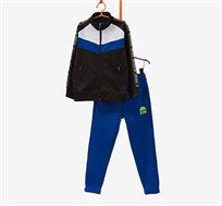 חליפת פוטר OVS עם הדפס לילדים - כחול/שחור