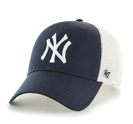 כובע ניו יורק יאנקיז  - נייבי רשת לבנה