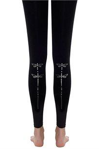 גרביון שפירית Zohara ללא כף רגל - שחור