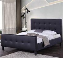 מיטה זוגית מעוצבת בריפוד דמוי עור דגם קייט HOME DECOR