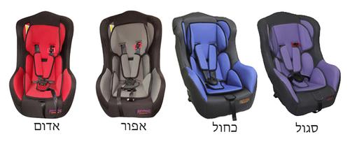 כסא בטיחות מגיל שנה ועד גיל 3 דגם Shark - סגול - משלוח חינם - תמונה 2