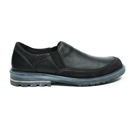 נעלי עור לגבר דגם פמבה סרנגטי - שחור