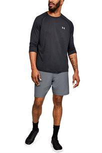 מכנס אימון קצר UNDER ARMOUR לגבר בצבע אפור