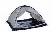 אוהל 2 פתחים BREEZE ל-4 אנשים עשוי אריג כסוף דוחה שמש מבית CAMPTOWN
