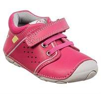 נעלי צעד ראשון לבנות דגם סופטי גומיות בצבע פוקסיה
