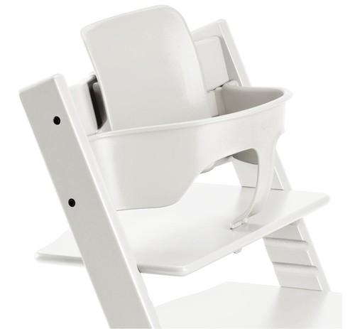 בייבי סט לכיסא אוכל טריפ טראפ - לבן