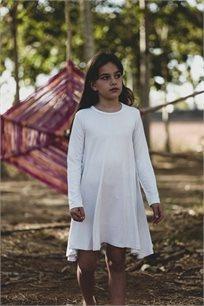 שמלה מסתובבת - לבן נקודות