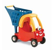 עגלת קניות לפעוטות ותינוקות little tikes משולבת מכונית לבובה  - משלוח חינם