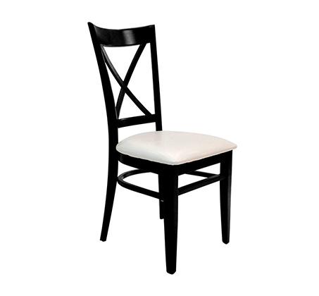 כסא מטבח מעץ כולל ריפוד מושב דגם אופק