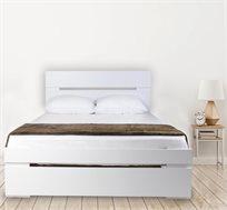 מיטה מעוצבת עשויה עץ במגוון צבעים לבחירה + מזרן קפיצים מתנה Olympia