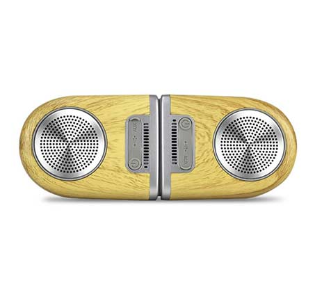 רמקולים Coral Tango Bluetooth Speakers Wood grain