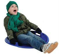 נוסעים עם הילדים לתפוס שלג? מגלשת שלג מפלסטיק לילדים, קומפקטית וקלה לנשיאה
