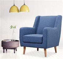 כורסת ישיבה מעוצבת עשויה מסגרת עץ דגם רורי ביתילי + הדום מתנה