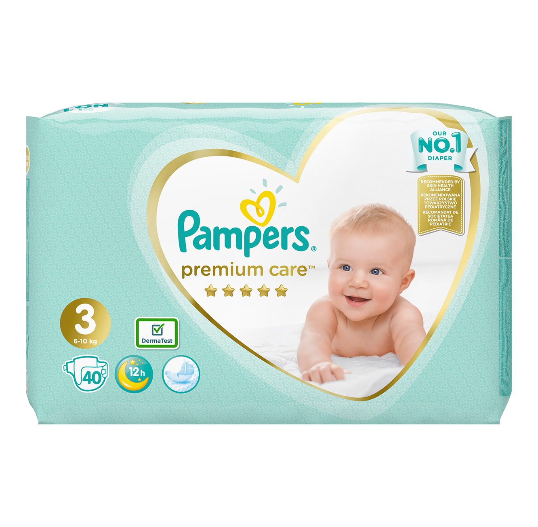 מארז 4 חבילות חיתולים Pampers Premium וחבילת Pampers Splashers במגוון מידות לבחירה - תמונה 3