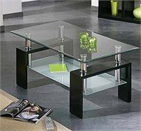 שולחן סלון מעוצב מזכוכית דגם RIO - משלוח חינם