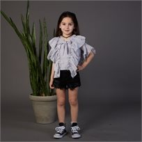 חולצת ORO לילדות (מידות 2-7 שנים) אפור
