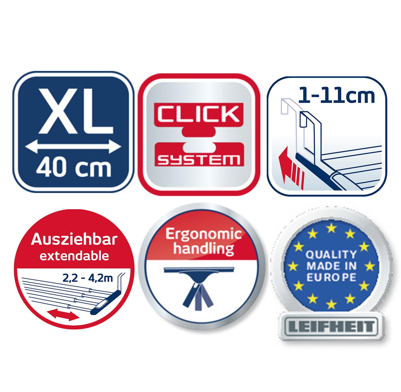 מגב בעל כיסוי מיקרופייבר ייחודי מסדרת click system המשלב 3 פעולות ניקיון בו זמנית LEIFHEIT גרמניה - תמונה 7