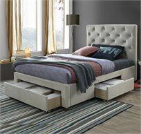 מיטה רחבה לנוער מרופדת 120X190 דגם TOPAZ