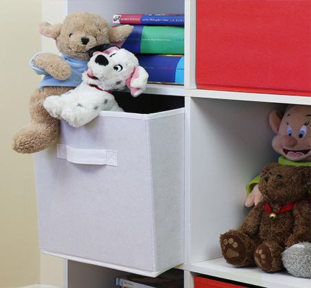 ארונית 6 תאים לאיחסון בחדרי ילדים, חדרי ארונות, סלון ועוד בגימור תבליט HOMAX - תמונה 2