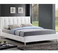 מיטה זוגית GAROX בריפוד עור רך למגע 140X190 דגם BYANCA - משלוח  חינם