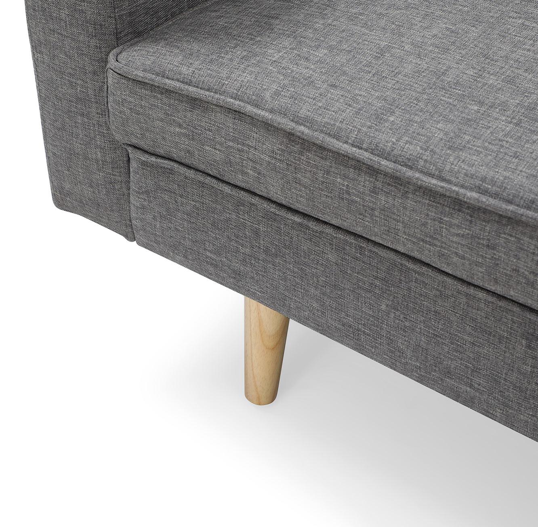 ספה תלת מושבית לאירוח בעיצוב מודרני נפתחת בקלות למצב שינה בצבע אפור - תמונה 5