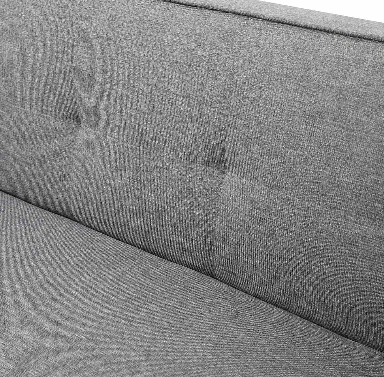 ספה תלת מושבית לאירוח בעיצוב מודרני נפתחת בקלות למצב שינה בצבע אפור - תמונה 6