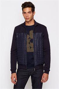 סוודר עם רוכסן לגבר DEVRED בצבע כחול נייבי