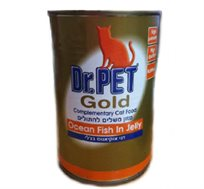 12 שימורי גולד לחתולים במרקם פטה בטעם דגי אוקיאנוס בג'לי
