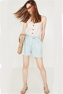 מכנסי שורט בגזרה גבוהה PROMOD לאישה - צבע לבחירה
