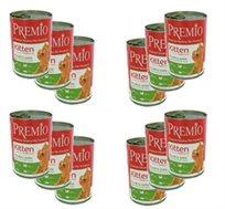 12 שימורי פרימיו PREMIO לגורי חתולים בטעם עוף