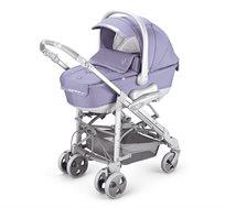עגלת תינוק משולבת ומפוארת NEONATO דגם SYNCHRO הכוללת אמבטיה רחבה, טיולון, סלקל לרכב ותיק